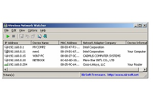 Nirsoft Wireless Network Watcher